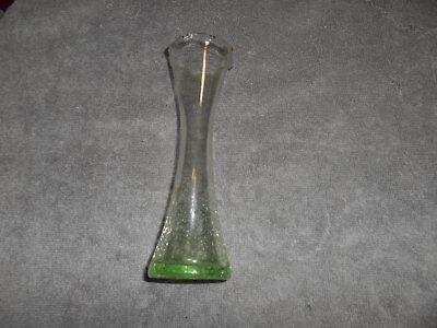 LIGHT GREEN CRACKLE GLASS VASE