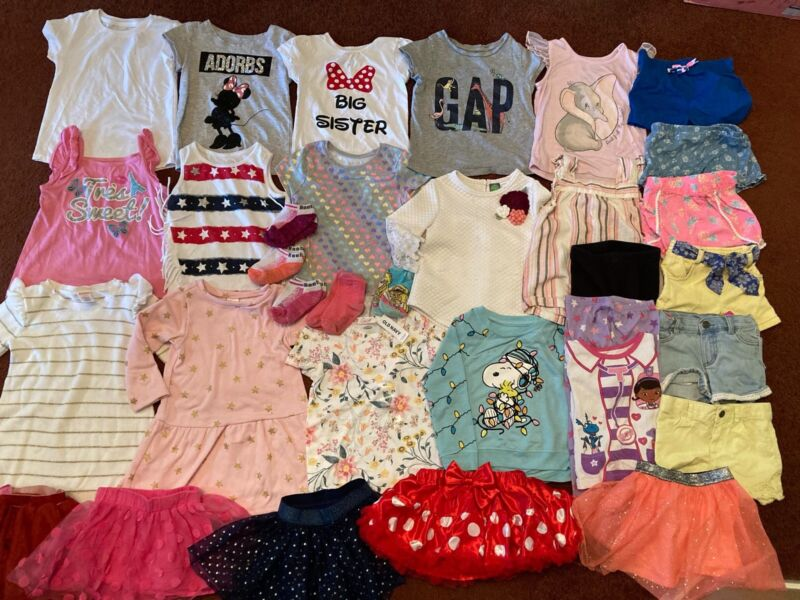 33 Piece Toddler Girl's Clothing Lot Size 3T 4T *EUC*