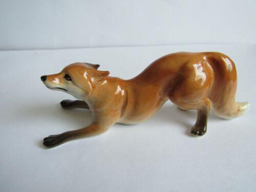 fox figurine porcelain Russian souvenir home decor new handpainted