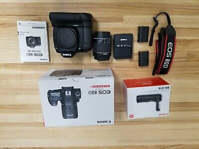 Canon EOS 80D 24.2MP Digital Camera with 18-55 lens and Battery Grip