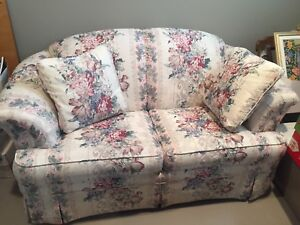 Fabric love seat — perfect for cottage or house
