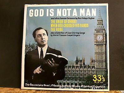 GOD IS NOT A MAN  3 LP   Box Set  Gospel Xian Sermons  Private pressing RARE !