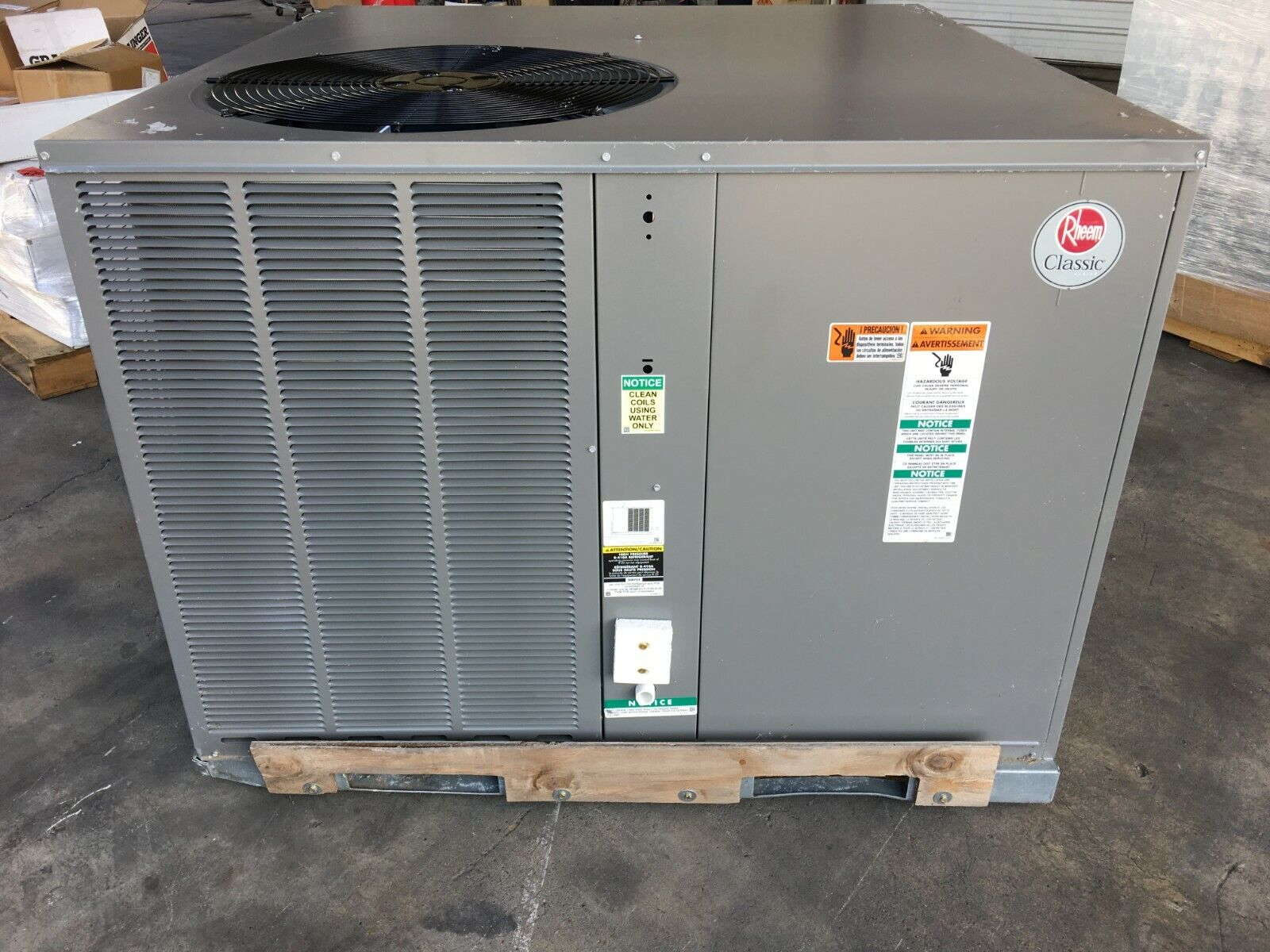 RHEEM 3 TON CLASSIC PACKAGED AIR CONDITIONER 14 SEER 208-230