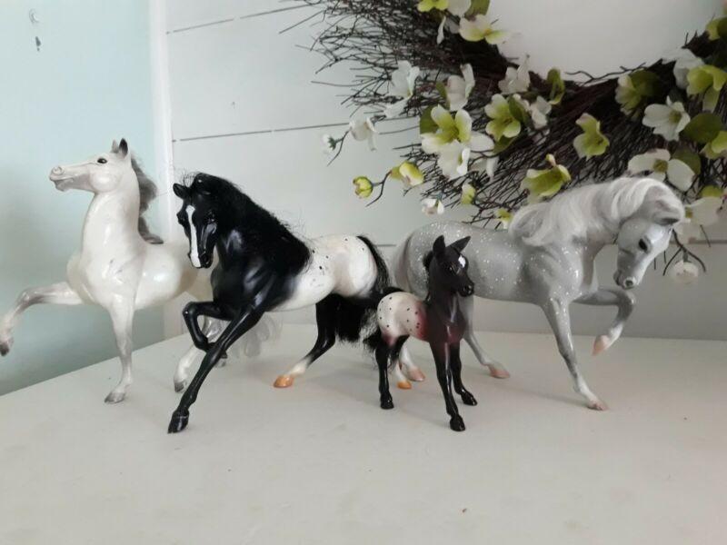 Breyer Horse Lot 4 Kids Toy Collectable Vintage Hair Foal Adult Medium