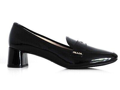 PRADA Zapatos Mujer College de Tacón Negro Tacones Altos Black Eu :3...