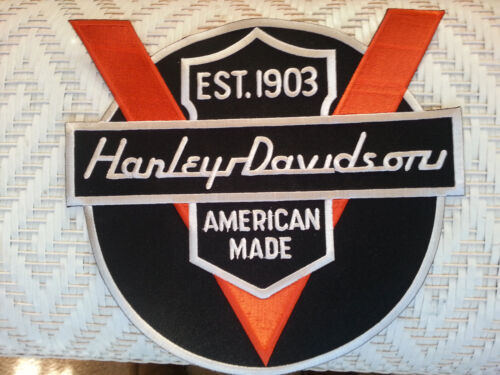 Harley Davidson NOS LARGE Vintage patch 50th Anniversary Logo Embroidered Patch