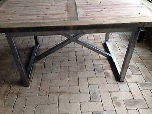 salvaged hardwood dining table-One off piece ***Submit offers*** Brisbane Region Preview