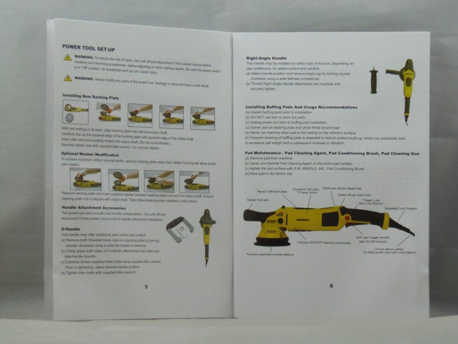 "6"" Green Medium Cutting Foam Pad Velocity DX for Long-Throw Polishers"