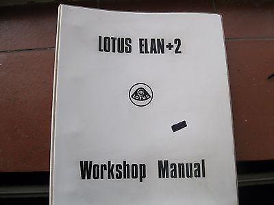 LOTUS ELAN +2 Car Workshop Manual Sept 1974 #X050 T 0327Z