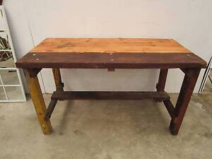 C49001 Rustic Solid Timber Workbench Bar Island Table Unley Unley Area Preview