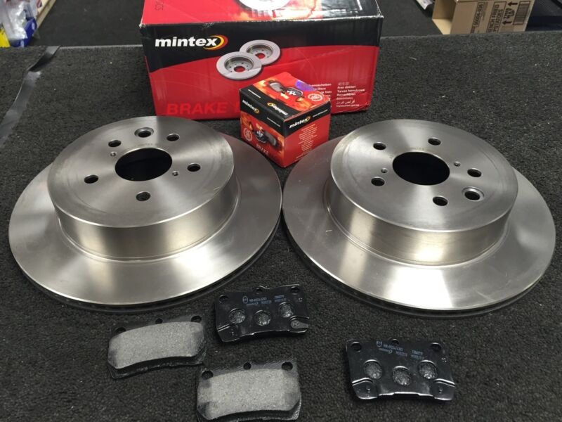 LEXUS IS250 IS220D IS200D IS250C REAR BRAKE DISC MINTEX BRAKE PAD REAR MINTEX