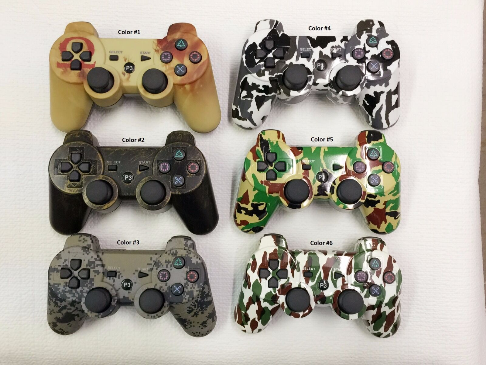 Lot 2 Camouflage Wireless Controller For Sony Playstation...