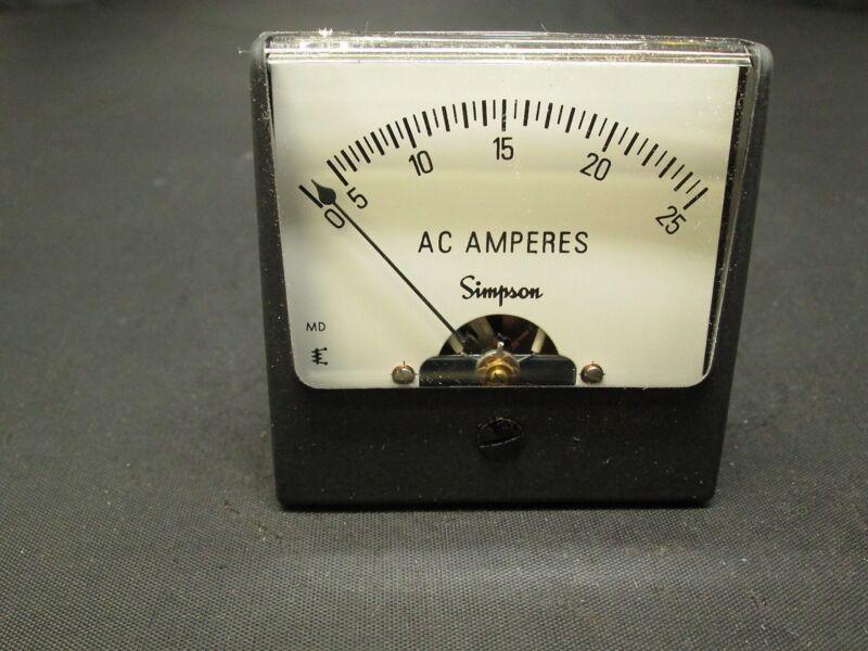 Simpson AC Current Amp Meter 02609 55F2585 new