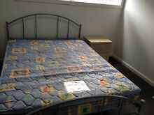 DOUBLE BED WITH MATTRESS & BEDSIDE TABLE - PICK UP FOR FREE Pemulwuy Parramatta Area Preview