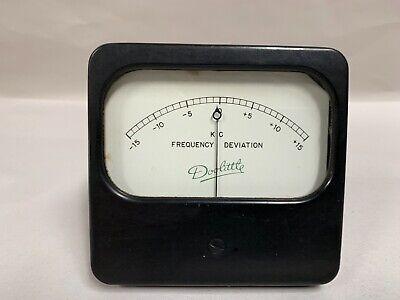 Vintage Doolittle K.c. Frequency Deviation Gauge Panel Meter A4