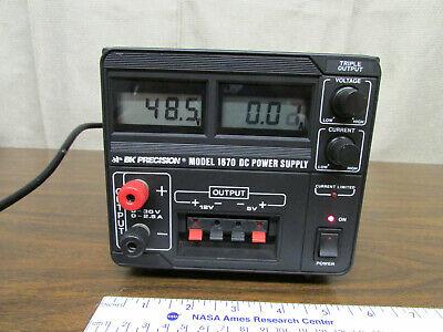 Bk Precision Medel 1670 Triple Output Dc Power Supply 0-30v 0-2.5a