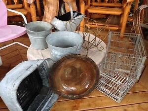 Variety of Vintage Metal Decor Items