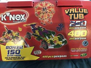 K'nex Value Tub. 400 pc with motor. New