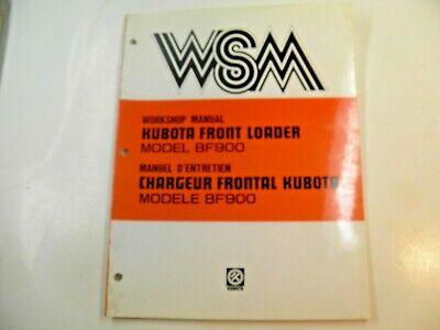 Kubota Front Loader Bf900 Workshop Manual
