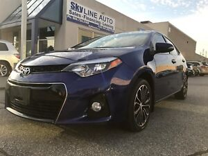 2014 TOYOTA COROLLA SPORTS PKG ONE OWNER NAVI BACK CAM LEATHER