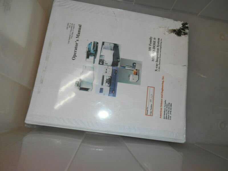 American Science and Eng ASE-3604 RevA MICRO-DOSE 101 X-ray Inspection System