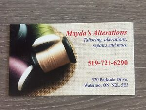 Mayda's Alterations, Stitching and Tailoring