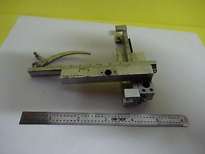 Microscope Stage Specimen Micrometer Germany Greifeldt Wetzlar Optics Binx3-30