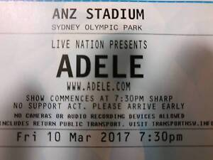 Looking to swap Adele Sydney tickets for Saturday Turner North Canberra Preview