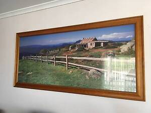 Framed Australian countryside and cottage print 1.5m x 70cm Albany Creek Brisbane North East Preview