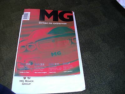 MG Original Sales Brochure  and Price List 2001