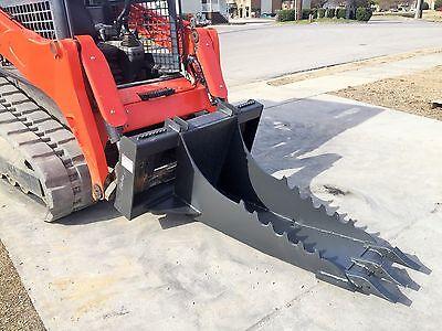 Bobcat Skid Steer Attachment Stump Bucket Extreme Duty Dig Spade - Free Ship
