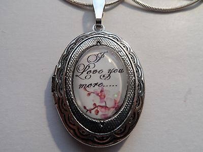 I Love You More Small  Locket