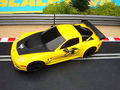 MINT COMPLETE SCALEXTRIC CHEVROLET CORVETTE WITH LIGHTS - MORE CARS FOR SALE