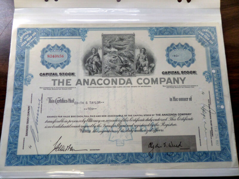 VINTAGE LOT OF 10 DIFFERENT US STOCK CERTIFICATES USED & UNUSED SCRIPOPHILY