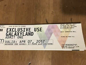 WEM Galaxyland Tickets $15