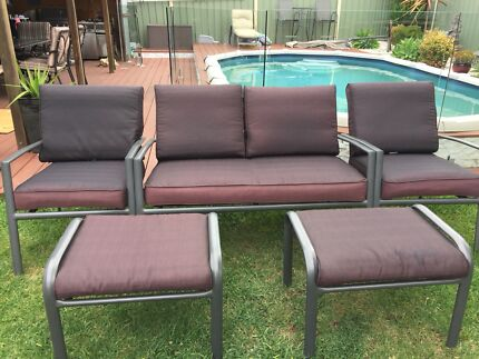 Outdoor lounge  and foot rests