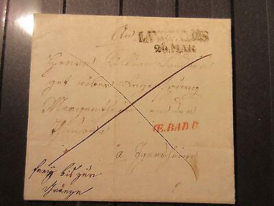 Österreich Langenlois L2 und roter OE.BAD.C kompletter Brief  (#101)