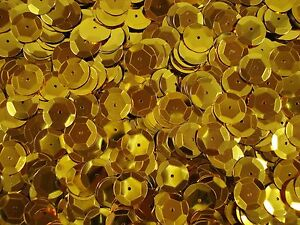 Sequins Metallic Cup 12mm Gold 250g Bulk Pack Dancing Costumes FREE POSTAGE