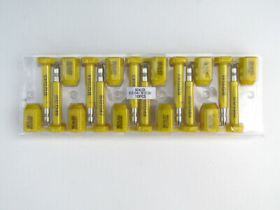 180 Pcs High Security Steel Bolt Seal For Container And Truck Door Lock - Yellow