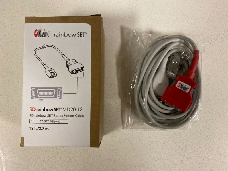 Masimo Rainbow Set RD Patient Cable MD20-12 #4073 12 Ft