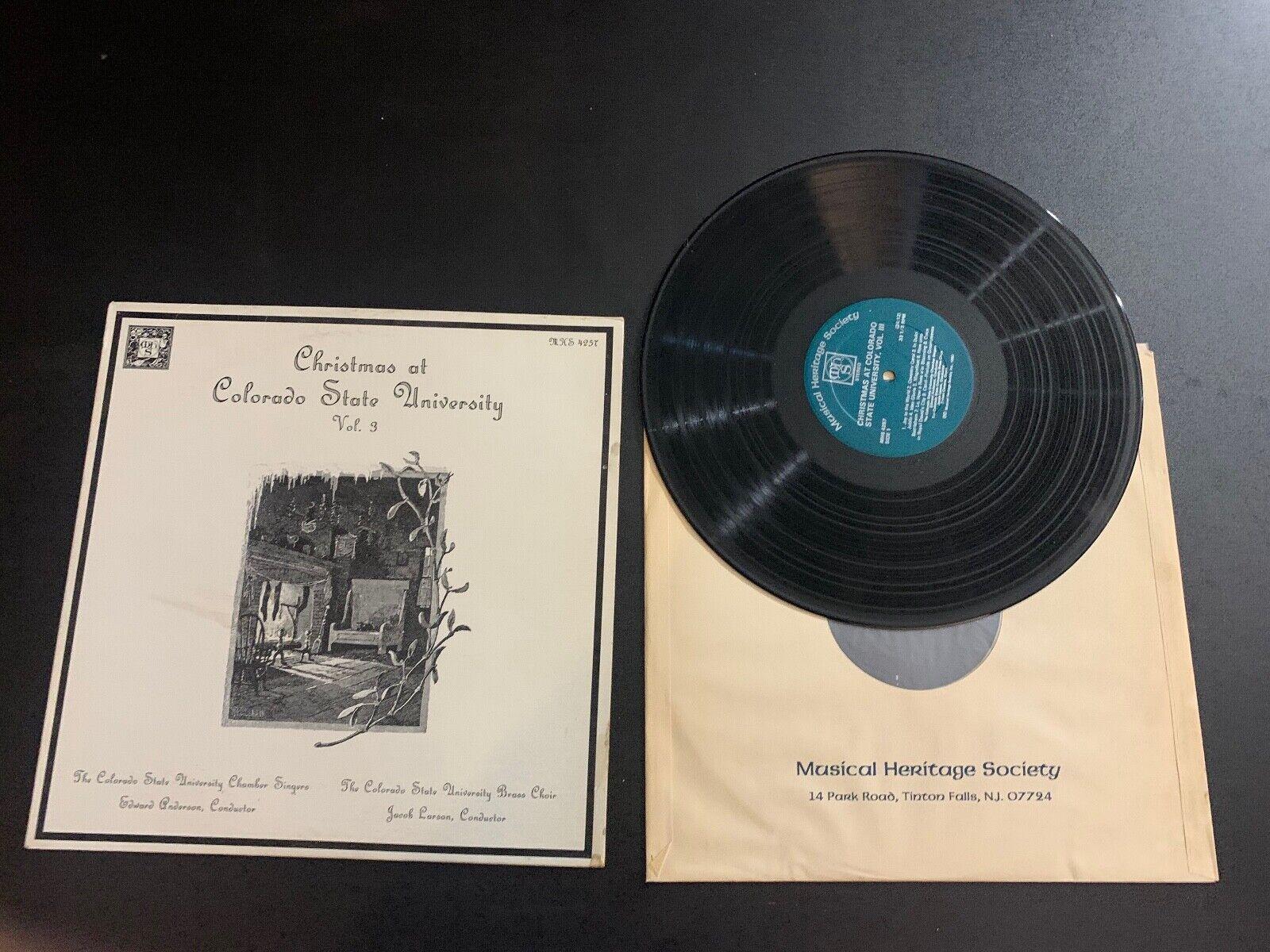 LP RECORD - MHS - CHRISTMAS AT COLORADO STATE UNIVERSITY VOL 3  - $9.99