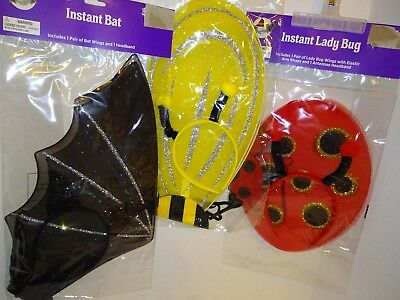 Bat,Bumble Bee or Lady Bug Halloween costume accessory New  2 piece sets (Bat Lady Halloween Costume)