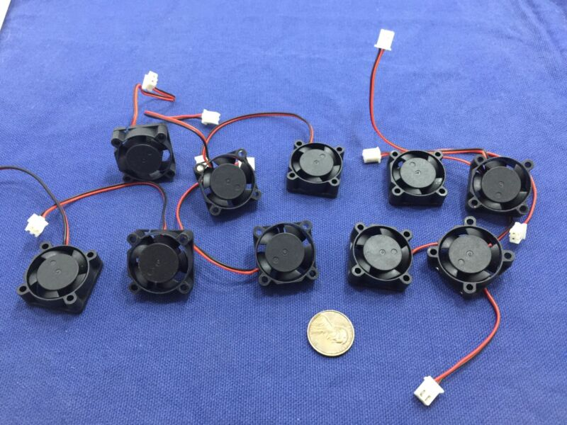 10 Pieces BXR 25mm x 25 x 10 Brushless Cooling Fan small micro Flow CFM 12V c11