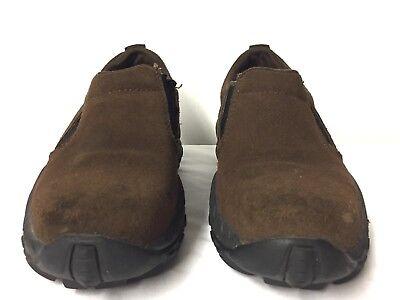 Dickies Steel Toe Shoes Brown Suede Slip On Safety Mens 7.5 Occupational Shoe