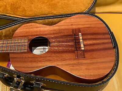 1990'S KAMAKA HF 600 6 STING UKULELE KOA WOOD WITH CASE - 18 FRETS - NEVER USED