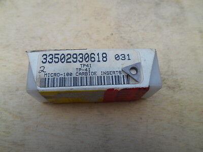 MICRO -100 CARBIDE INSERTS , TP-41 , 5 INSERTS