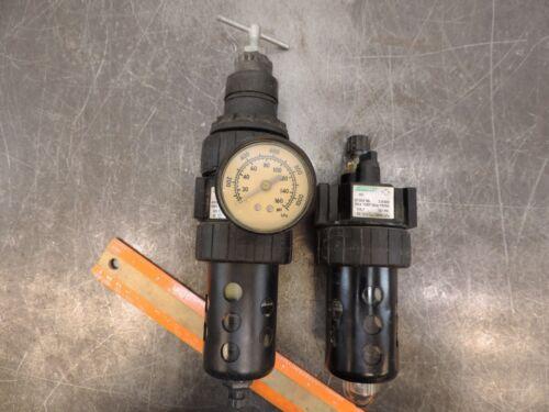 """SPEEDAIRE Pneumatic Regulator  Air Filter Lubricator  1/4"""" Npt Combo 4Z027A"""