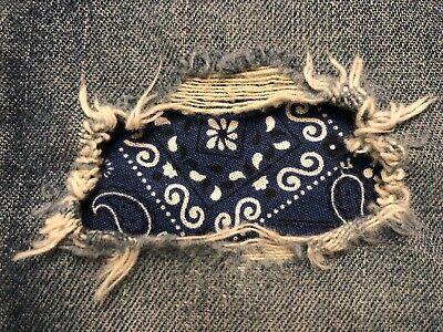 - Navy Bandana Peek a Boo Iron On Holey patches(Asst. Sizes Available)