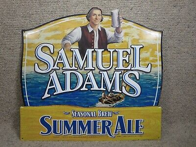 Samuel Adams Sam Summer Ale Seasonal Tin Sign Beer 2012 Never Hung Summer 2012 Collection
