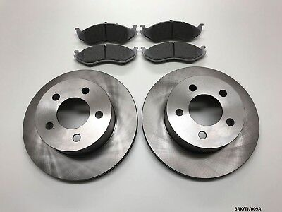 2 x Front Brake Disc & Brake Pads for Jeep Wrangler TJ 1999-2006 BRK/TJ/009A